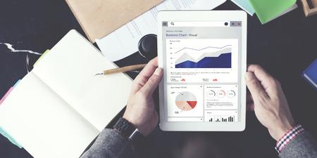 Zakelijke Grafiek Statistiek palnning Analysis Concept