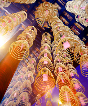 believable: Incense Coils in Chinese Temple Decoration Concept