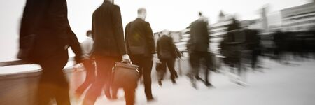 rushing hour: Business People Commuter Walking Travel Crowd Concept