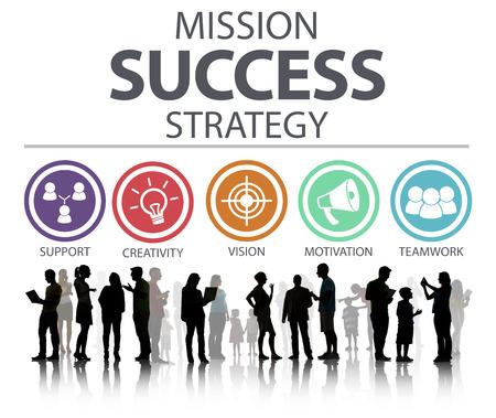 mision: Estrategia Éxito Logro Misión Estrategia Concepto