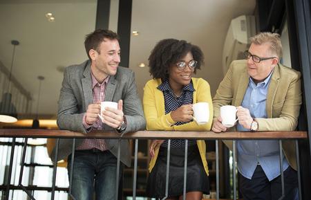 Business Team Coffee Break Relájese Concepto