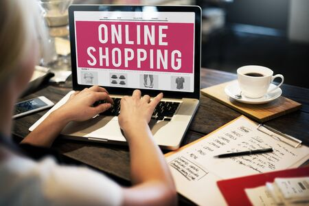online: Online Shopping Purchasing Commercial Electronic Concept Stock Photo