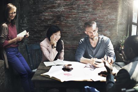 casual meeting: Business Architecture Interior Designer Meeting Concept