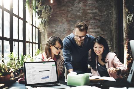 közlés: Business Team Meeting ötletbörze Working Concept Stock fotó