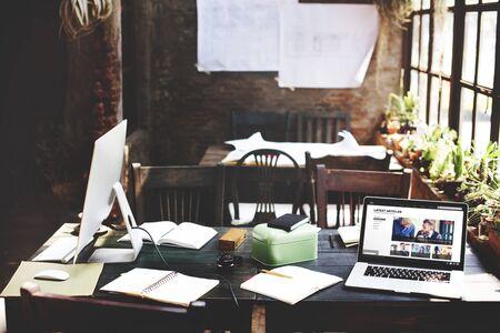 Home Design Office Sala Espacio de trabajo Concepto