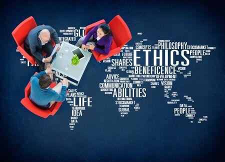 morale: Ethics Ideals Principles Morals Standards Concept