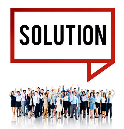 in problem: Solution Solving Problem Resolve Strategy Concept