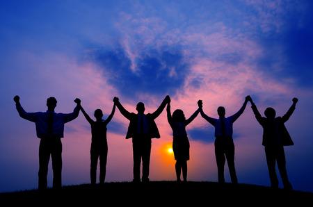 Concepto Unidad Equipo de gente de negocios Unión Coporate