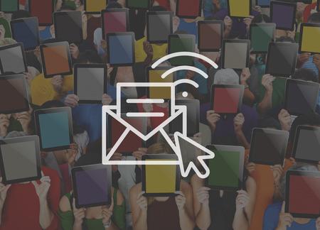 hotspot: Communication Online Messaging Hotspot Network Concept