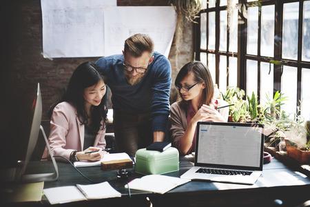 Equipe: Business Marketing Corporate Team Concept de travail Banque d'images