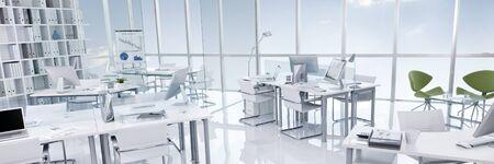 Concept Style Moderne Blanc Immeuble de bureaux Intérieur