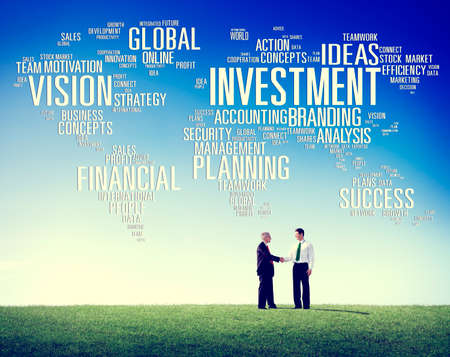 profit: Investment Global Business Profit Banking Budget Concept Stock Photo