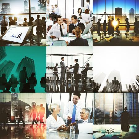liderazgo empresarial: Actividad empresarial de colaboraci�n en equipo �xito de inicio Concept Foto de archivo