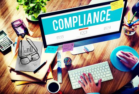 compliance: Compliance Rules Regulations Policies Codes Concept Stock Photo