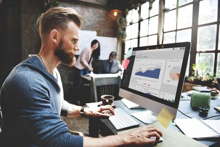 estadisticas: Concepto de Trabajo Marketing de Negocios Equipo Corporativo