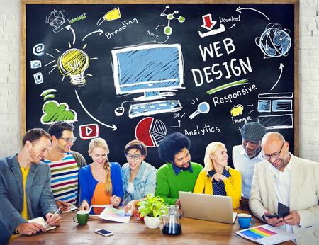 Content Creativiteit Digital Graphic Layout Webdesign Webpage Concept Stockfoto
