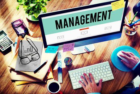 managing: Management Organization Director Managing Customize Concept
