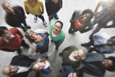 Groep Mensen Team Diversiteit Glimlachen Concept