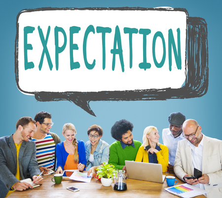 Group of people with the word EXPECTATION