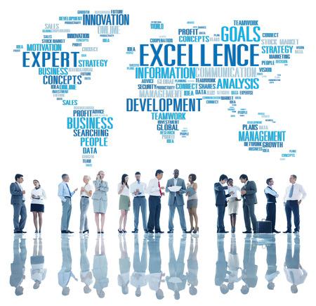 Eccellenza Competenza Perfezione Crescita Globale Archivio Fotografico - 51826857