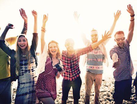Freundschaft Freedom Beach Summer Holiday-Konzept