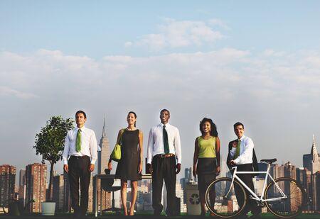 Bicycle Commuter Ecology Environment Conservation Concept Banco de Imagens