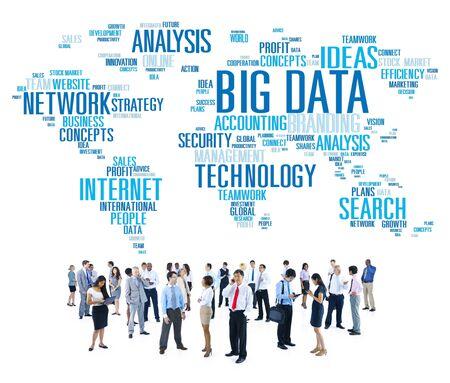 大きなデータ ストレージ情報世界地図概念