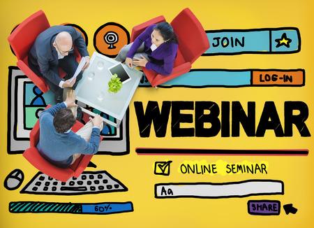 webinar: Webinar Online Seminar Global Conmmunications Concept Stock Photo