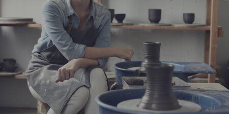 pottery: Craftsman Artist Pottery Skill Workshop Concept