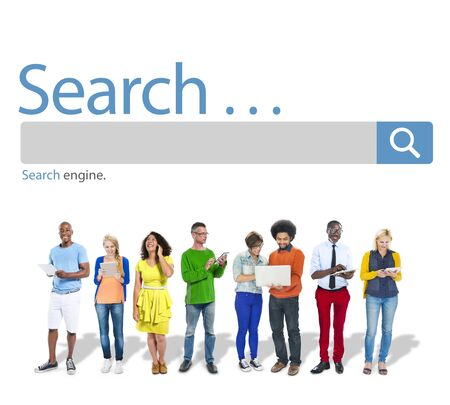 digital device: Search Browse Find Internet Search Engine Concept