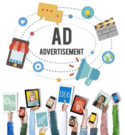 Ad Advertisement Marketing Commercial Concept 版權商用圖片