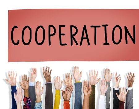connection: Cooperation Partnership Teamwork Connection Concept