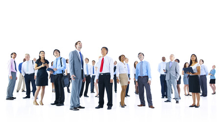 organised group: Large Group of Business People Organization Corporate Concept