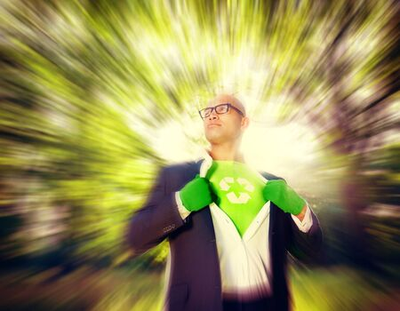 conservative: Conservative Businessman Recycle Ecology Saving Concept Stock Photo