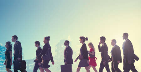 Business People Commuter Cityscape Team Concept Stock Photo