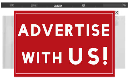 advertise with us: Advertise With Us Commercial Branding Persuade Concept