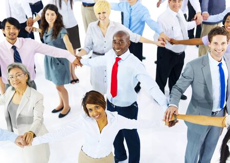 mixed age: Collaboration Corporate Cooperation Professional Concept Stock Photo