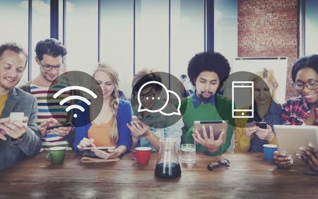 Mensajería Tecnología inalámbrica Online Comunicación Concepto