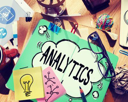 information analysis: Analytics Analysis Data Information Planning Statistics Concept