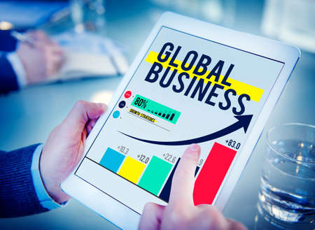 global village: Global Business International Networking Cooperation Concept