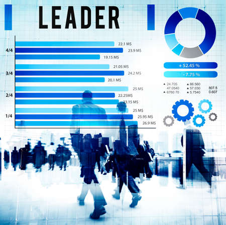 and authority: Leader Leadership Authority Coach Concept Foto de archivo