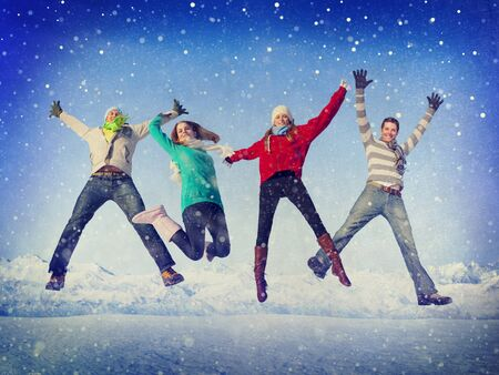 winter vacation: Christmas Celebration Friendship Winter Happiness Concept
