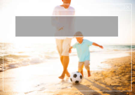 getting away from it all: Copy Space Frame Summer Vacation Holiday Concept Stock Photo