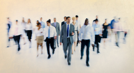 working hour: Large Group of Business People Walking