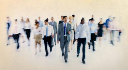 organised group: Large Group of Business People Walking