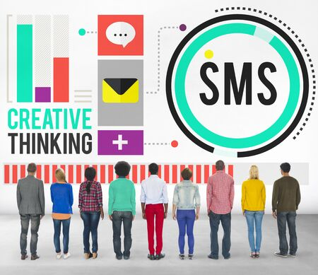 messaging: Sms Digital Messaging Communication Technology Concept Stock Photo