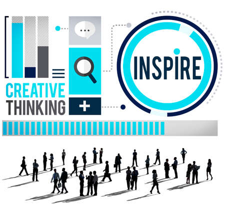 Inspire Inspiration Immagination Motivation Optimistic Concept Stock Photo