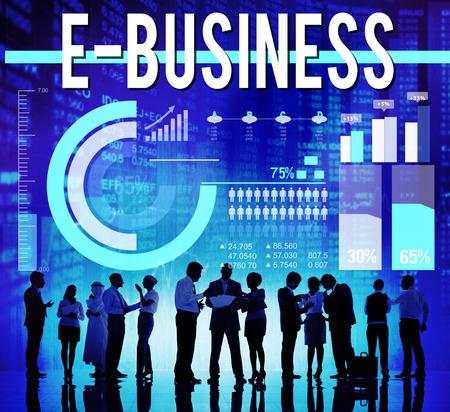 commerce: E-business Internet Networking Website Commerce Concept