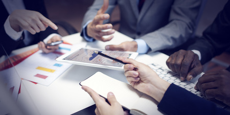 liderazgo empresarial: Organizaci�n del Equipo Negocio corporativo Reuni�n Concepto