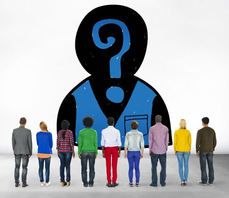 man looking up: Assessment Employment Recruitment Hiring Searching Concept